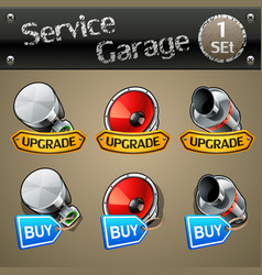 upgrade and buy parts icons for race game-set 1 vector image