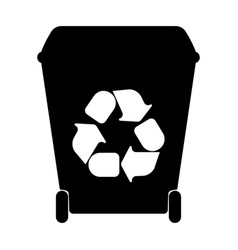 Big containers for recycling waste sorting vector