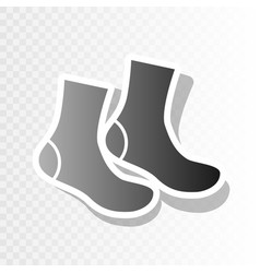 Socks sign  new year blackish icon on vector