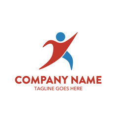businessman logo-3 vector image