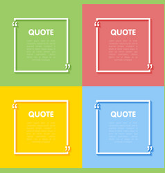 Set of frames for quotes vector