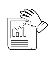 Statistical report isolated icon vector