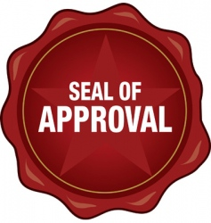 Quality seal of approval vector