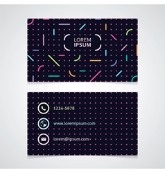 Modern business card with an abstract pattern vector