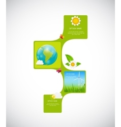 Eco infographic templates for business vector