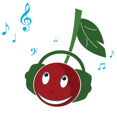 Cherry music vector
