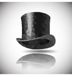 Black hat triangle vector