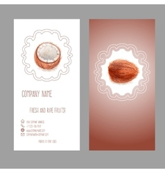 Business card with coconut vector