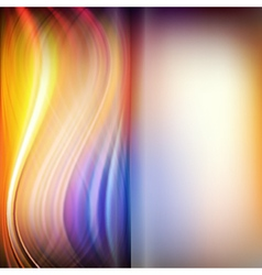 Set of abstract wavy smooth and blurred background vector