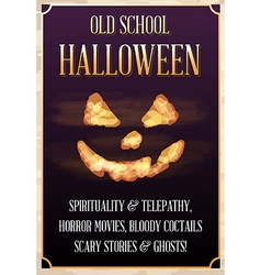 Halloween old school party poster or banner or vector