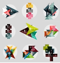Geometrical banner set vector