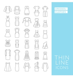 Dresses and clothes vector