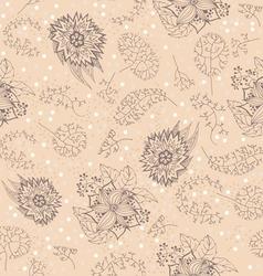 DoodlesFloral16 1401 01 vector image