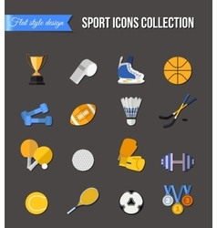 Set of winter and summer sport isolated icons vector