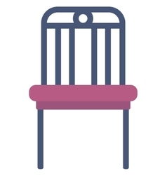 Modern purple chair vector image