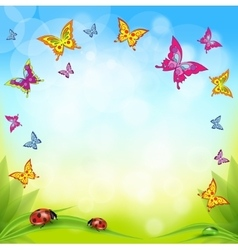 Spring or summer nature background with vector image