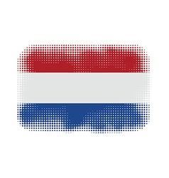 Holland flag halftone vector