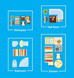 apartment interior design vector image vector image