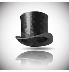 Black hat triangle vector