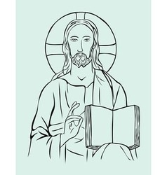 Christus with bible vector