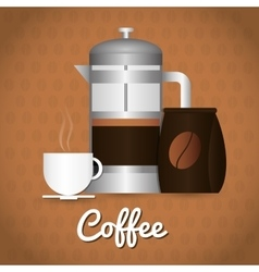 Coffee drink shop design vector image vector image
