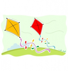 colorful kites vector image vector image