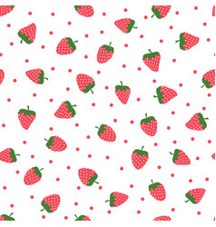 cute background with strawberries vector image
