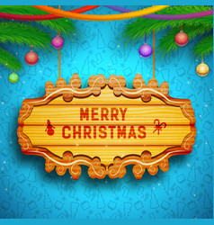 decorative greeting template vector image