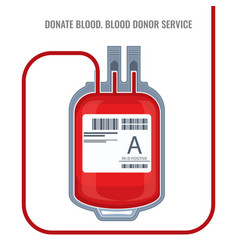 donate blood donor service plastic bag red icon vector image vector image