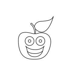 Figure kawaii fruit apple happy icon vector