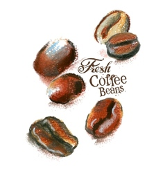 fresh coffee logo design template beans or vector image