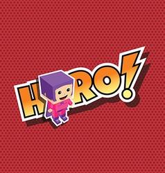 great superhero mom vector image vector image