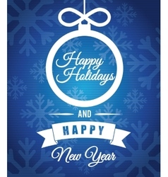 Happy holidays and merry christmas card vector image