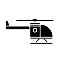 helicopter icon black sign vector image vector image