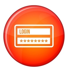 Login and password icon flat style vector image