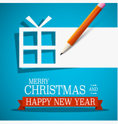 merry christmas and happy new year xmas card vector image vector image