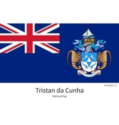 National flag of tristan da cunha with correct vector