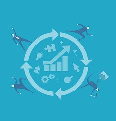 Process improvement vector image