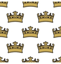 Seamless pattern of golden crowns vector image vector image