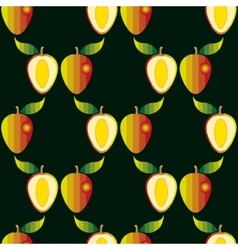 Seamless pattern with mangoes vector image vector image