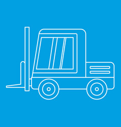 Stacker loader icon outline vector