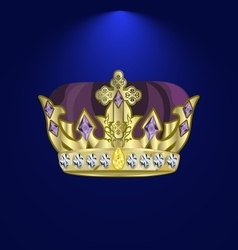Tiara with precious stones 4 vector