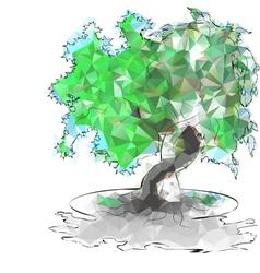triangular trees vector image vector image