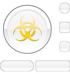 Virus white button vector