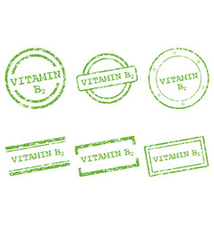 Vitamin b2 stamps vector