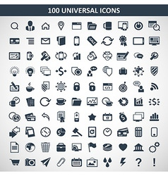100 media icons vector image vector image