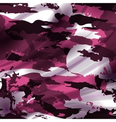 Drapery pink camouflage fabric textile background vector