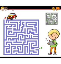 maze or labyrinth activity task vector image
