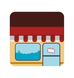 Store frame market shop building icon vector
