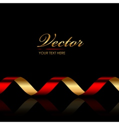 Background with red gold ribbon vector